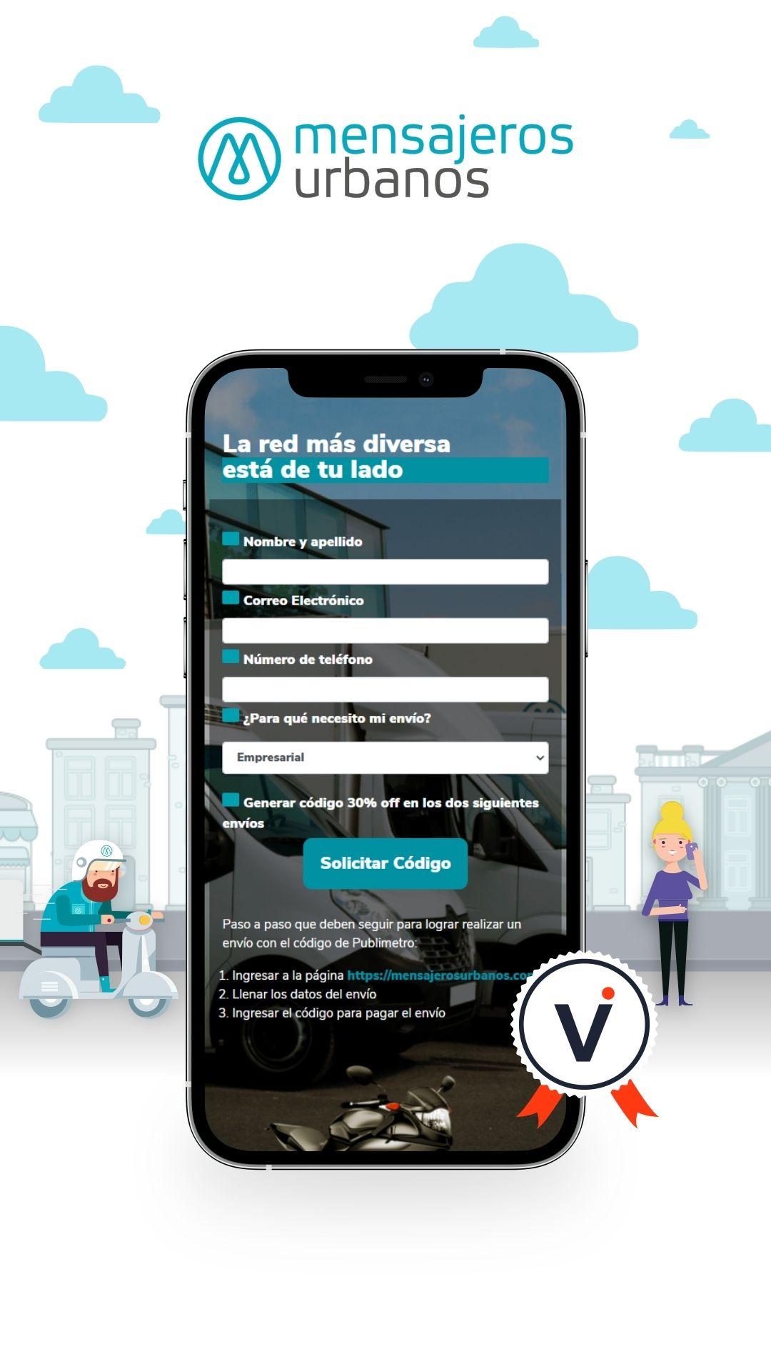 Mensajeros urbanos – Desarrollo web, captación de datos y reportes